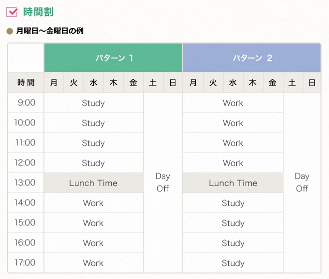 英語0円セブ島留学でのスケジュール
