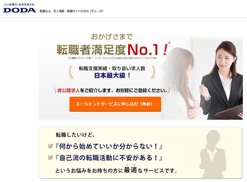 デューダの公式サイトのトップ画面