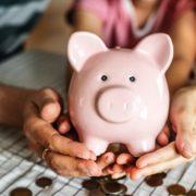 貯金がたまった豚の貯金箱